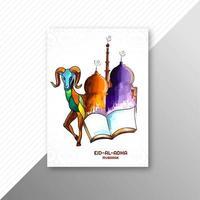 eid al-adha design cartolina d'auguri dipinta a mano vettore