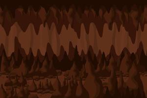 paesaggio misterioso tunnel grotta marrone vettore