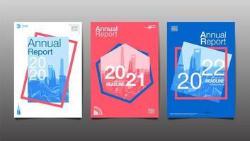 rapporto geometrico colorato 2020, 2021, 2022 rapporti annuali