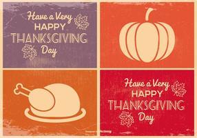 Carino mini carte del Ringraziamento vettore