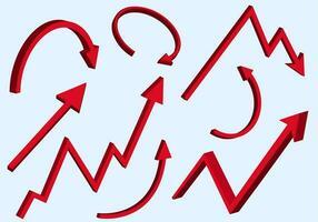 frecce rosse grafiche impostate