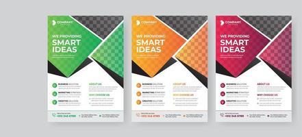 modello di business flyer per brochure copertina vettore