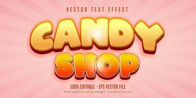 testo del negozio di caramelle