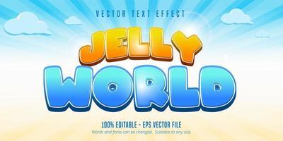 effetto testo bolla mondo gelatina vettore