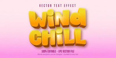 effetto testo wind chill
