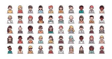 personaggi umani assortiti vettore