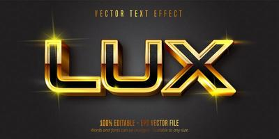 testo lux effetto testo modificabile in oro lucido
