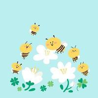 concetto di impollinazione delle api