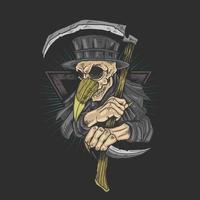 medico della peste con la falce