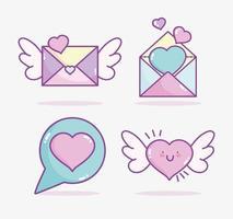 pack di icone di San Valentino vettore