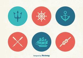 Icone vettoriali Marine gratis