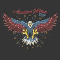 American Veteran Eagle Design