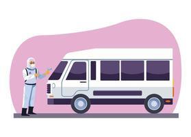 furgone disinfettante per biosicurezza
