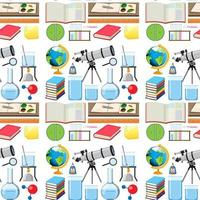 disegno di sfondo senza soluzione di continuità con attrezzature scolastiche
