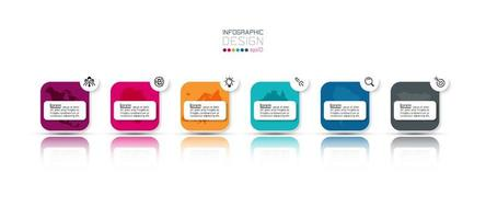progettazione rotonda di affari infographic a più fasi della scatola