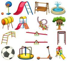 insieme di elementi di parco giochi