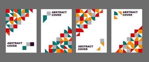 set di copertine colorate a forma geometrica