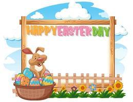 progettazione del modello del confine con il coniglietto e le uova di Pasqua