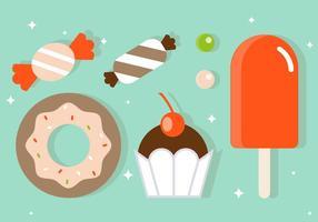 Illustrazione di vettore di dolci piatti gratis
