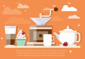 Vettore di sfondo caffè gratuito