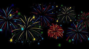 fuochi d'artificio colorati sul cielo