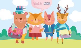 ritorno a scuola animali universitari per adulti all'aperto
