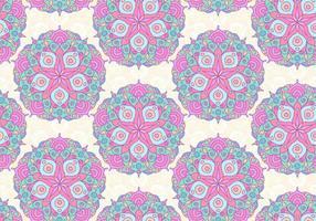 modello vettoriale mandala colorato rosa