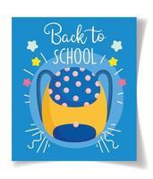 modello di carta zaino torna a scuola