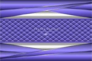 piatti metallici ad angolo viola e argento con trama tappezzeria vettore