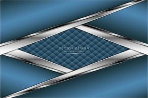 pannelli metallici blu e argento ad angolo con trama tappezzeria vettore