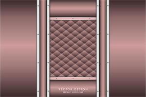 pannelli metallici rosa e argento e trama tappezzeria vettore
