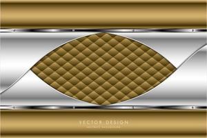 metallo dorato e argentato con tappezzeria dal design moderno vettore