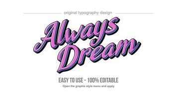 rosa stile moderno corsivo lettering testo vettore