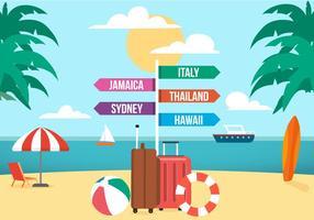 Illustrazione vettoriale di viaggio