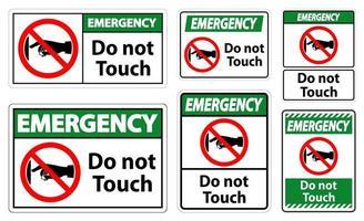 non toccare il set di segni