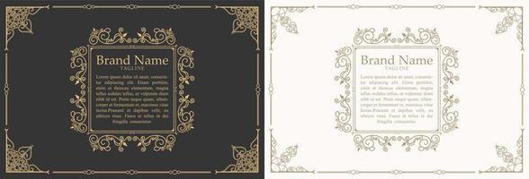 cornice scatola di segni di citazione ornamento vintage