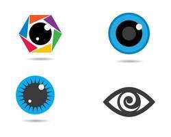 set logo simbolo dell'occhio vettore