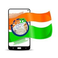 modello di storia dei social media del giorno dell'indipendenza