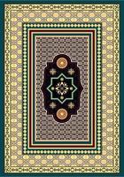 tappeto con motivo ornamentale vettore
