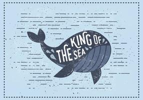 Illustrazione vettoriale di vintage balena