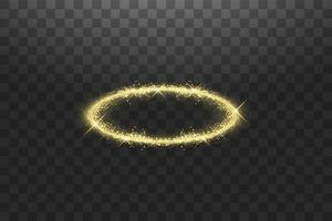 anello angelo aureola dorata vettore