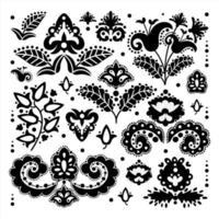 elementi di ornamento orientale vettore