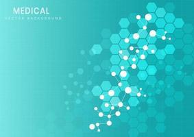 struttura molecolare su sfondo azzurro vettore