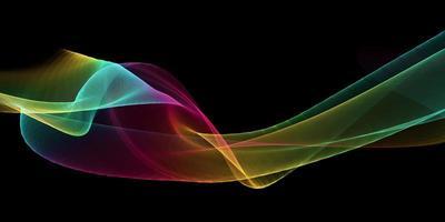 banner onda arcobaleno vettore