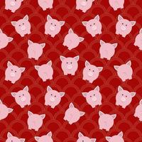 modello di maiale dei cartoni animati vettore