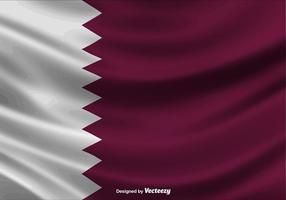 Illustrazione della bandiera del Qatar - vettore