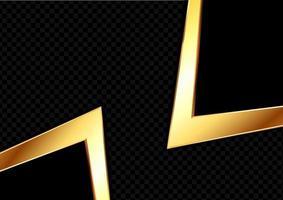 oro astratto e sfondo nero vettore