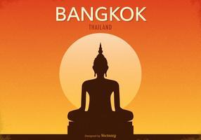 Poster vettoriale retrò di Bangkok gratuito
