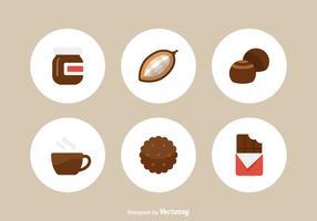 Icone vettoriali gratis piatto al cioccolato