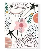 modello di carta contemporanea disegnato a mano carino